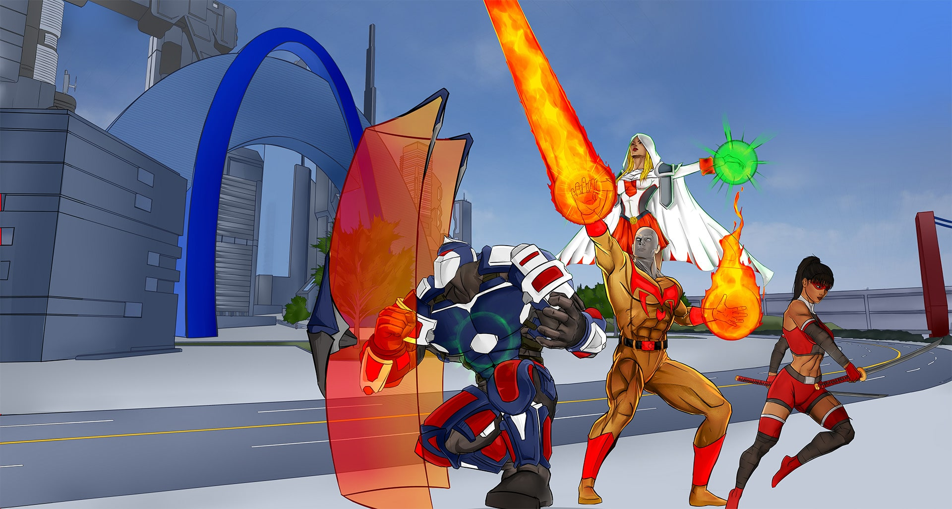 Descendants of City of Heroes in space